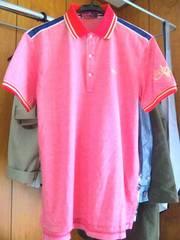 BOBSON■赤耳ポロシャツ■赤耳×バイソンビッグ刺繍■赤×金■ボブソン