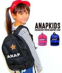 新品ANAPKIDS☆ロゴ リュック 黒 バックパック アナップキッズ