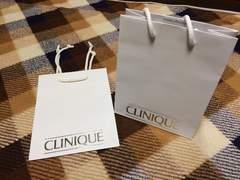 美品クリニークCLINIQUEショップ袋紙袋ショッパー2枚セット