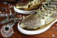 送料込 ラメ ハイカット スニーカー 靴 メンズ シューズ 厚底 オラオラ ダンス 107金25.5
