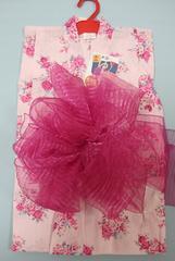 子供浴衣2点セット★女の子110cmゆかた兵児帯★ピンク薔薇6