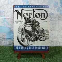 新品【ブリキ看板】Norton/ノートン The Unapproachable