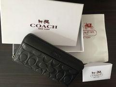 COACH 長財布 コーチ 74999 ブラック アウトレット 正規品