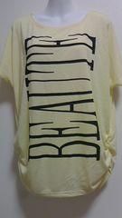 新品縦ロゴ肩あきゆるかわドルマンTシャツ(M)