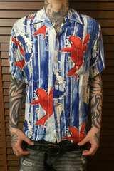 即決ROTAR登り鯉x妖怪アロハシャツ!ロカビリーアメカジパンクロックバイカースタイル