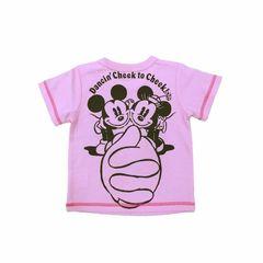 *Disney*ディズニー*ミニー胸ポケット付Tシャツ*ピンク*90�a*新品*