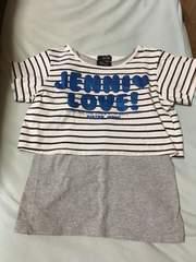ジェニィ*丈短めTシャツ&タンクセット*150、中古