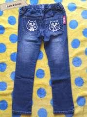 中古美品【ビッツBIT'Z】120cm猫ポケットデニムパンツジーンズ