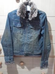 V.A.L.E衿&袖口ファーが暖かいファー取り外せる2wayデニムジャケット