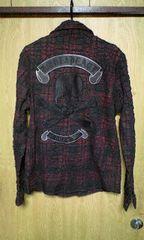 ROENロエン バックスカルボンディングコーティングチェックシャツ 48