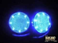 LEDレフランプ★ステップの丸型反射板をLEDに★C/ブルー