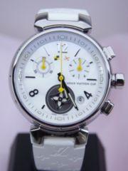ルイヴィトン タンブール ラブリーカップ クロノグラフ クォーツ 時計 女性用 Q132C★dot