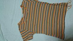 avv ミッシェルクラン ボーダー 半袖tシャツ  オレンジ