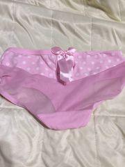 水玉ピンクのショーツ☆彡Mサイズ下着