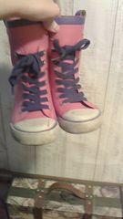 コンバースレインブーツ19�p     スニーカー長靴・。*.       ピンク