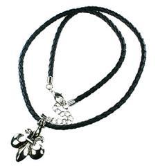 編みひも百合の紋章ネックレス