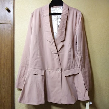 MUGLA★新品★変形衿のロングジャケット/M