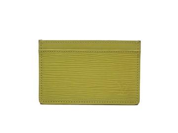 正規ルイヴィトンカードケースエピ黄色名刺入れLVM60329名