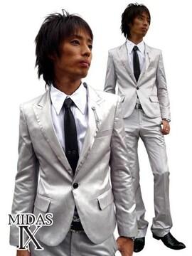 Midas�\(ミダスナイン)ゲーティアショートスーツ/シルバーM ホスト