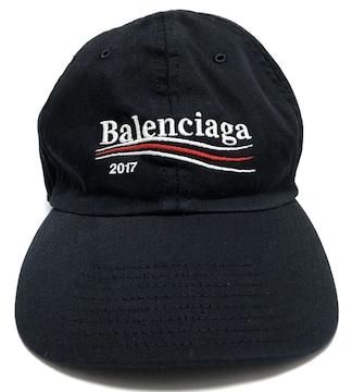 正規バレンシアガ国内正規品キャップL野球帽帽子メンズレディースブラックキャンバス
