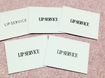 リップサービスLIPSERVICEミニ封筒5枚セット送料82円