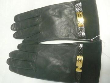 NOVESPAZIO (ノーベスパジオ) 羊皮革手袋ロゴプレートMサイズ