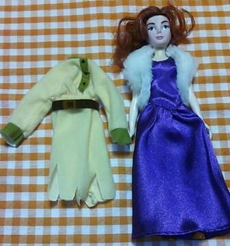 レアアニメアナスタシアドール人形髪が伸びるギミック有り着せ替え服付き1997年製