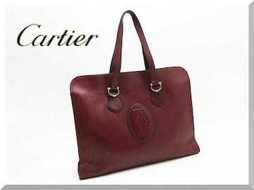 Cartier☆カルティエ マストライン レザーブリーフケース トートバッグ
