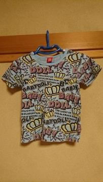 ベビードール☆派手な総柄半袖Tシャツ☆140センチ♪