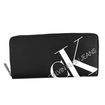 ◆新品本物◆カルバンクラインジーンズ ラウンドファスナー長財布(BK)K60K606875◆