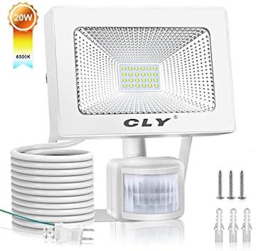 CLY LED 投光器 20W 人感センサーライト 100V 昼白色 人体