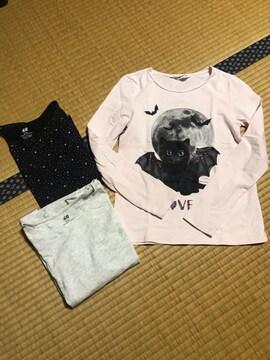 美品 まとめ売り H&M 長袖Tシャツ キッズ 140