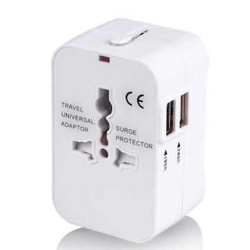 海外変換プラグ 2USBポート旅行充電器 A/O/BF/Cタイプ電源変換