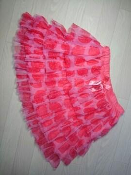 ●ラブレボリューション● 苺シフォンスカート 150 美品