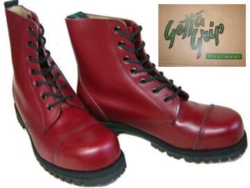 ゲッタグリップおでこ靴7ホール ブーツ新品7507CRスチール入uk5