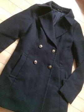 美品  エゴイスト  ウールコート  サイズフリー  ブラック