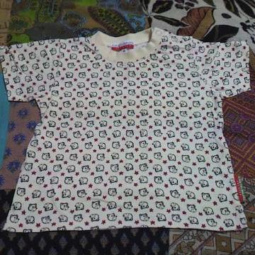 キッズカステルバジャック男女兼用 くまさん&星柄 半袖Tシャツ80�p