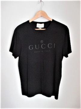 ☆GUCCI グッチ ロゴ Tシャツ 半袖/メンズ/M☆ブラック☆国内正規品