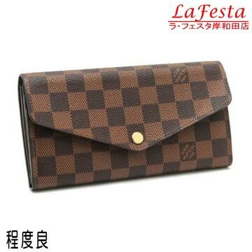 ◆本物程度良◆ルイヴィトン【人気】ダミエ2つ折り長財布(サラ