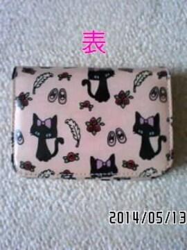 SWIMMERスイマー・猫&薔薇イラスト柄二つ折りカードケース