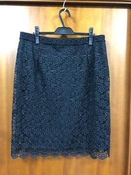 ユニクロ☆3XL☆黒レーススカート
