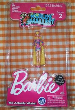 海外限定ワールドスモーレストバービートータリーヘアWORLD'S SMALLEST Barbieミニチュア