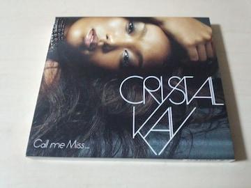 クリスタル・ケイCD「Call me Miss...」Crystal Kay初回DVD付●