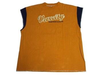 セール新品Varcityヴァーシティー★タンクトップ3XLオーバーサイズTシャツ★ノースリーブ