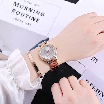オススメ690円★超人気シンプル 可愛い腕時計ローズゴールド