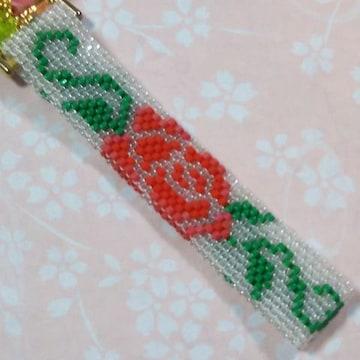 【handmade】ペヨーテステッチ☆薔薇
