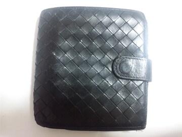 12775/ボッテガヴェネタ★人気の編み込みデザイン2つ折り財布確実本物