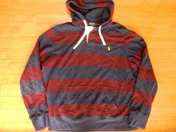 ポロ ラルフローレン ラガーシャツ風 パーカー USA−XL