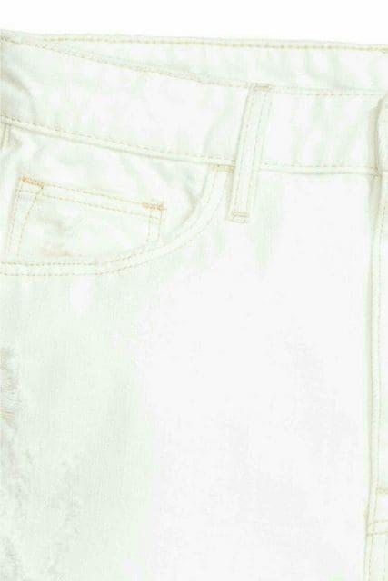 H&M ハイウエスト デニム ショートパンツ 40 < 女性ファッションの