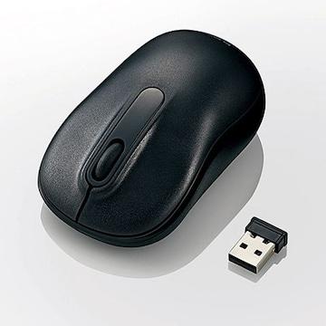 ☆ELECOM 無線 ボトムマウス 光学式 Mサイズ ブラック